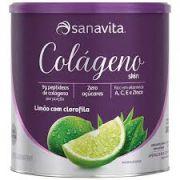 Colágeno Hidrolisado - Limão + Clorofila - 300g - Sanavita
