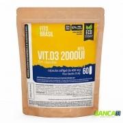 Vitamina D3 2000UI  Cápsulas 60 cáps de 430mg Fitobrasil EcoRefil