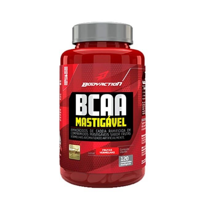 BCAA Mastigável 120 comprimidos - BodyAction