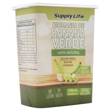 Biomassa de Banana Verde 250g Supply Life