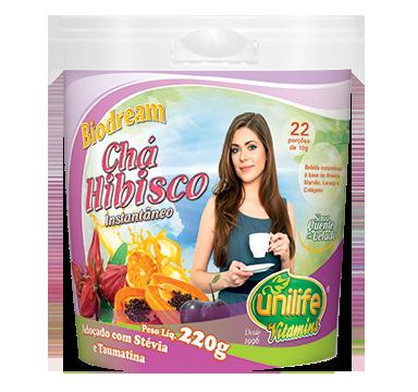 Chá de Hibisco Instantâneo - 220g - Unilife