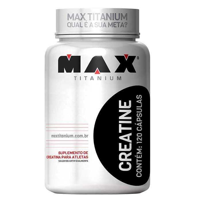 Creatina - 120 cápsulas - Max titanium