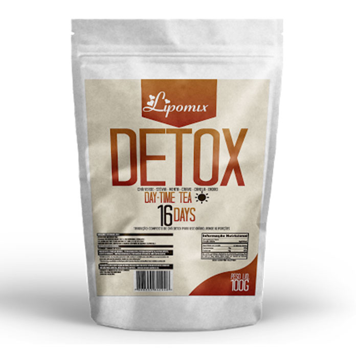 DETOX DAY – TIME TEA 16 DAYS – 100g– LIPOMIX