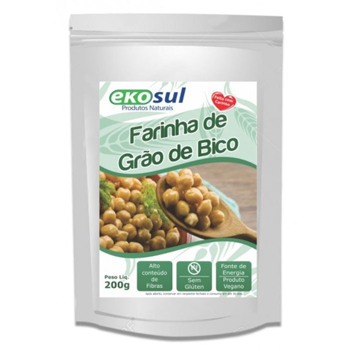 Farinha de Grão de Bico - 200g - Ekosul
