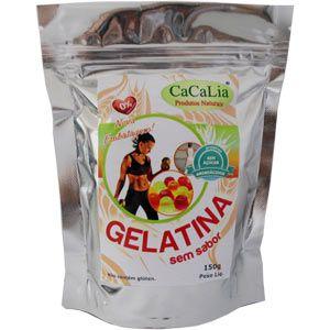 Gelatina Natural sem Sabor - 150g - CaCalia