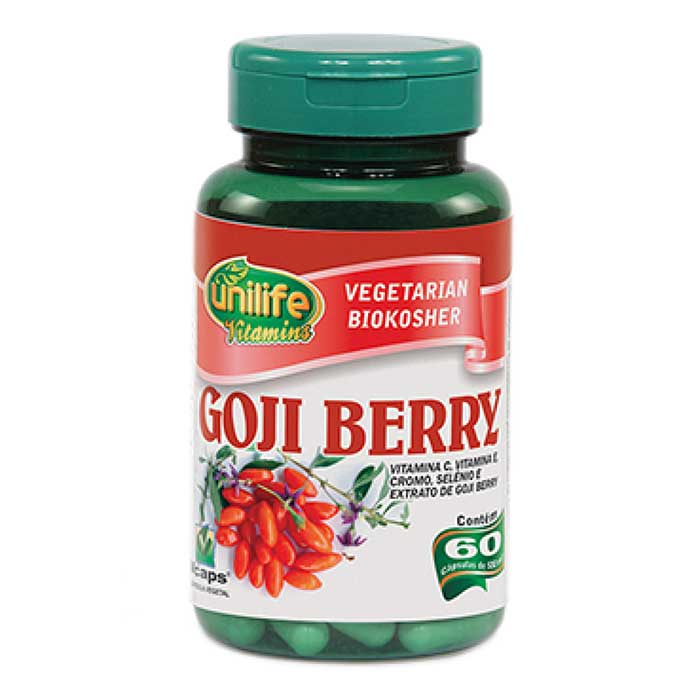 Goji Berry - 60 Cápsulas - 500mg - Unilife