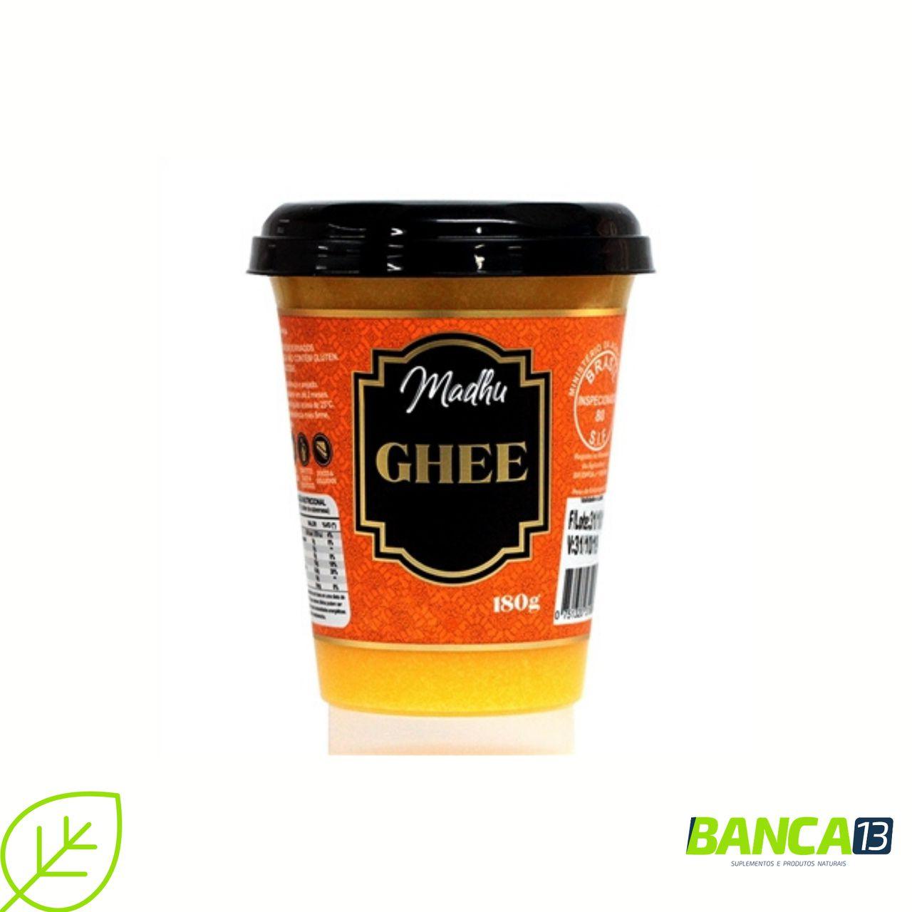 Manteiga Ghee 180g Tradicional Clarificada Madhu Bakery