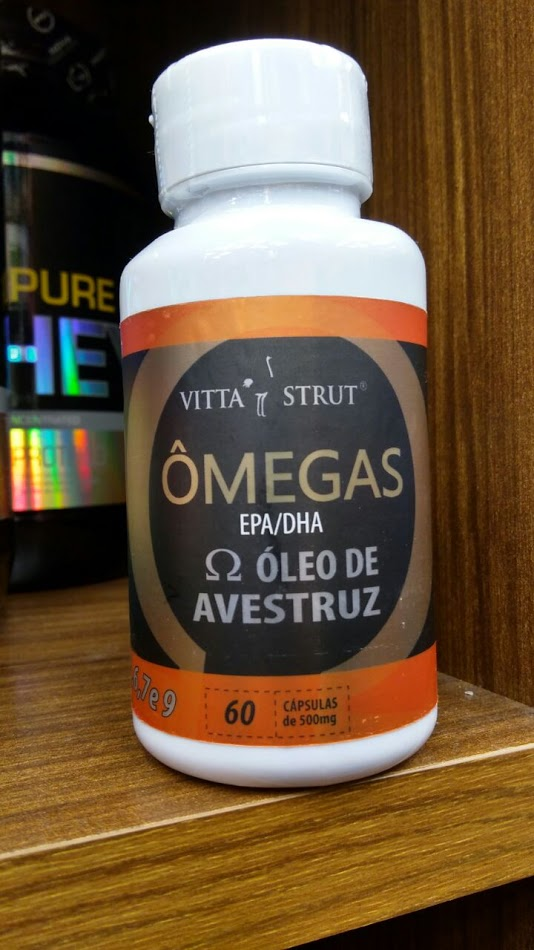 Óleo de Avestruz - 60 cápsulas de 500mg - Vitta Strut