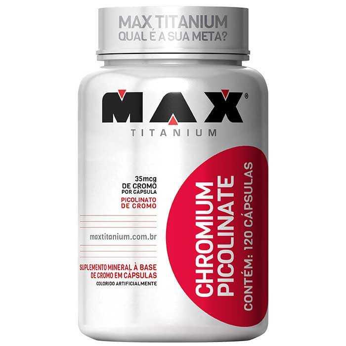 Picolinato de Cromo - 120 Cápsulas - Max Titanium