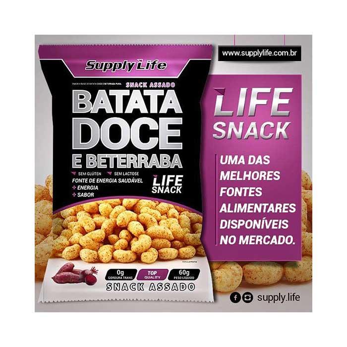Snack de Batata Doce e Beterraba - 60g - Supply Life