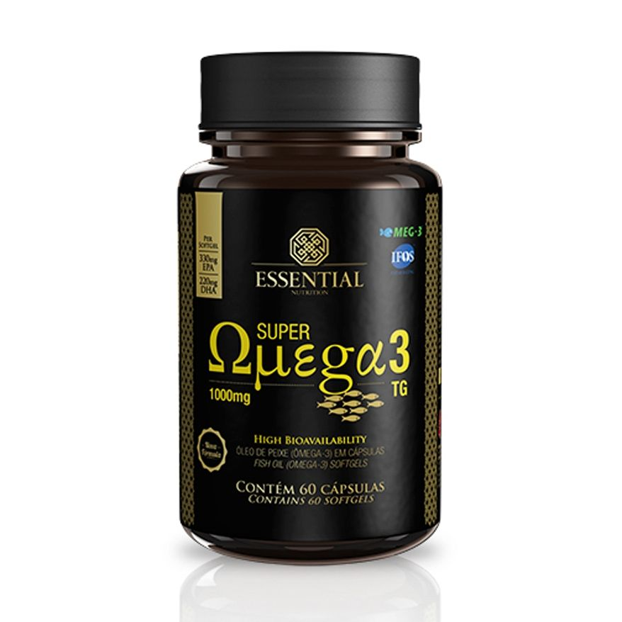 Super Ômega 3 TG Essential 60 cápsulas - Essencial Nutrition
