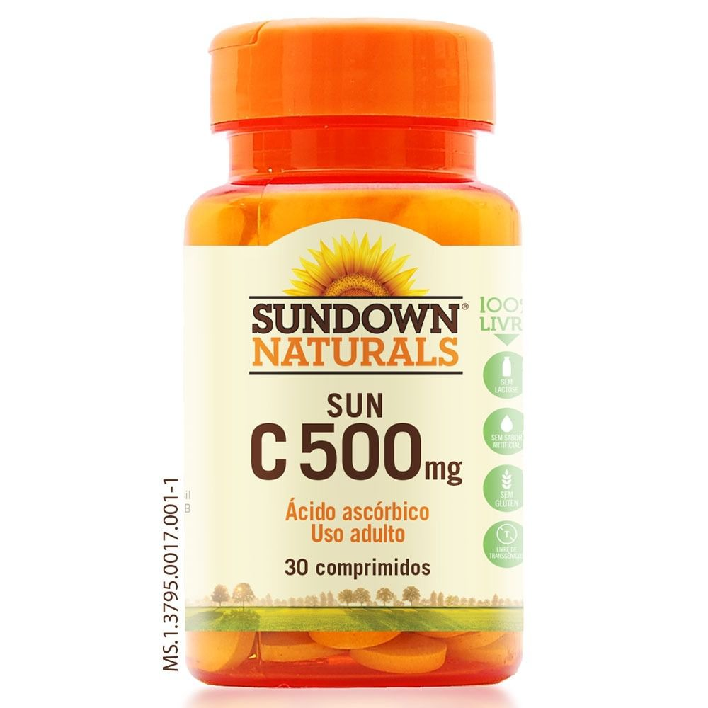 Vit C 500mg - 30 comprimidos - Sundown