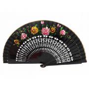 ABANICO 23cm - leque médio vazado floral dança flamenca e cigana