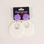 BRINCO argola flamenca resina lilás e marfim