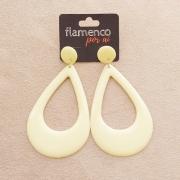 BRINCO flamenco gota alongada creme  7 x 4,5vm