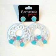 BRINCO grande flamenco feria sevilla acrílico flores
