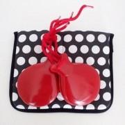 CASTANHOLAS espanholas iniciação caixa dupla vermelha flamenco Pali