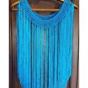 Flecos para decote azul turquesa