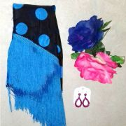 KIT VERANO FLAMENCO 13 - mantoncillo, flores e brincos