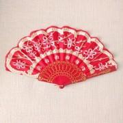 LEQUE cigano 23cm plástico vermelho