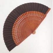 LEQUE espanhol 23cm flamenco nogal e marrom