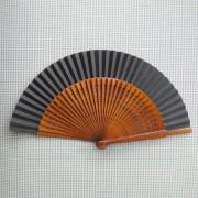 LEQUE espanhol 23cm flamenco nogal e preto