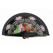 LEQUE MÉDIO 23cm - desenho vazado floral dança flamenca e cigana