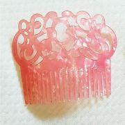 PEINECILLO flamenco rosa nacarado plástico
