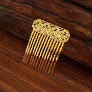 Peinecillo metal flamenco vintage dourado 4cm