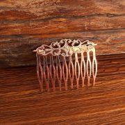Peinecillo metal flamenco vintage rose 4,5cm