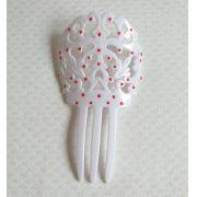 PEINETA flamenco plástico 14x8cm com bolinhas
