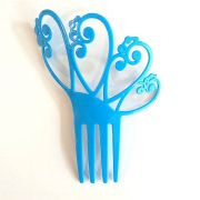 PEINETA plástico pequena flamenco arcos várias cores