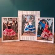 QUADRO flamenco com 3 cartões
