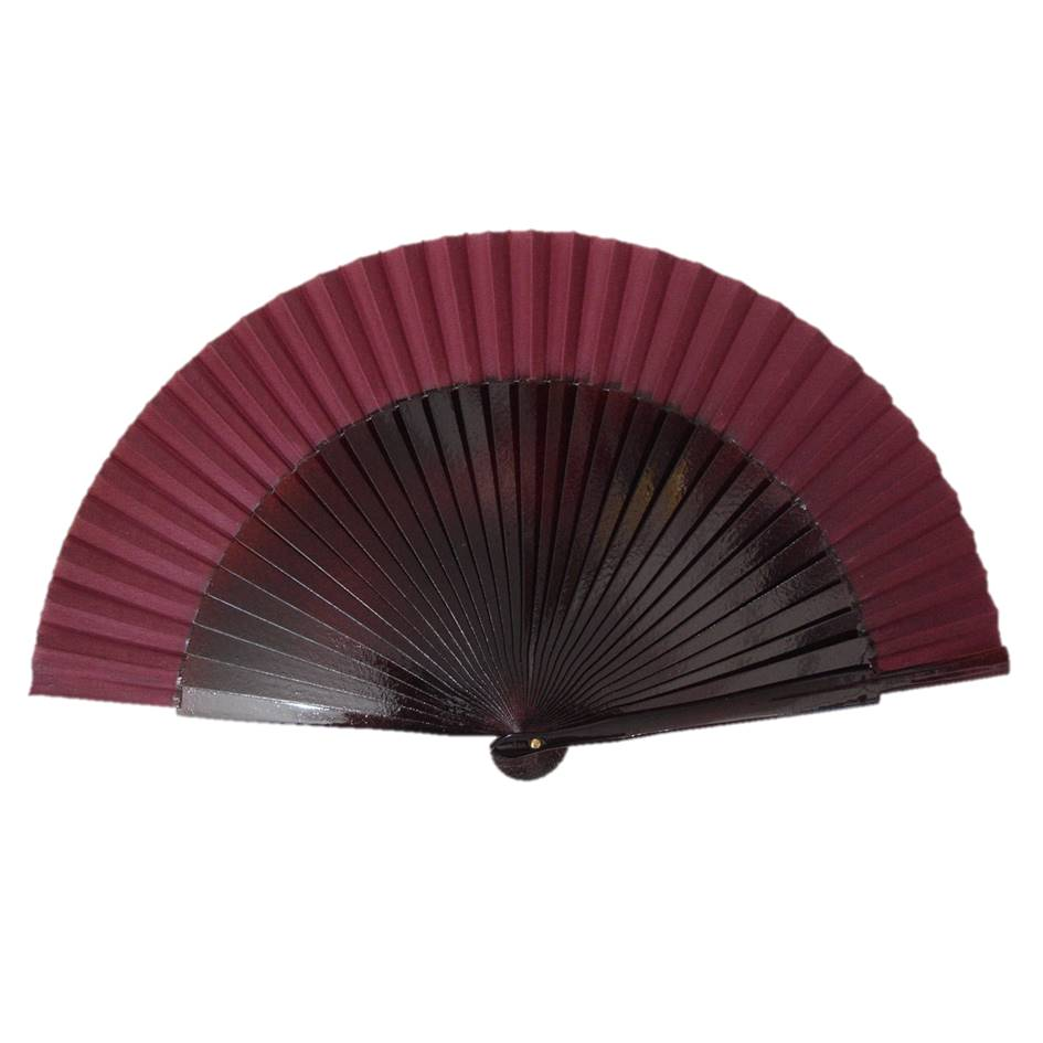 LEQUE MÉDIO 23cm cores lisas flamenco dança cigana várias cores