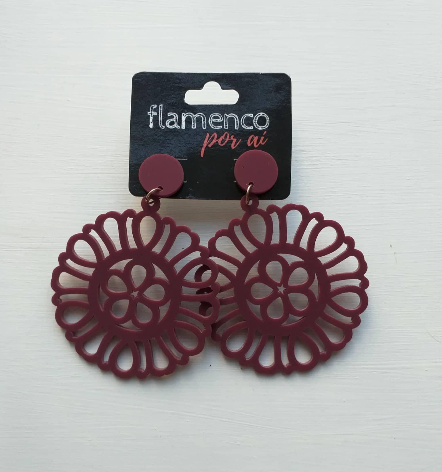 BRINCO acrílico leve flamenco redondo várias cores