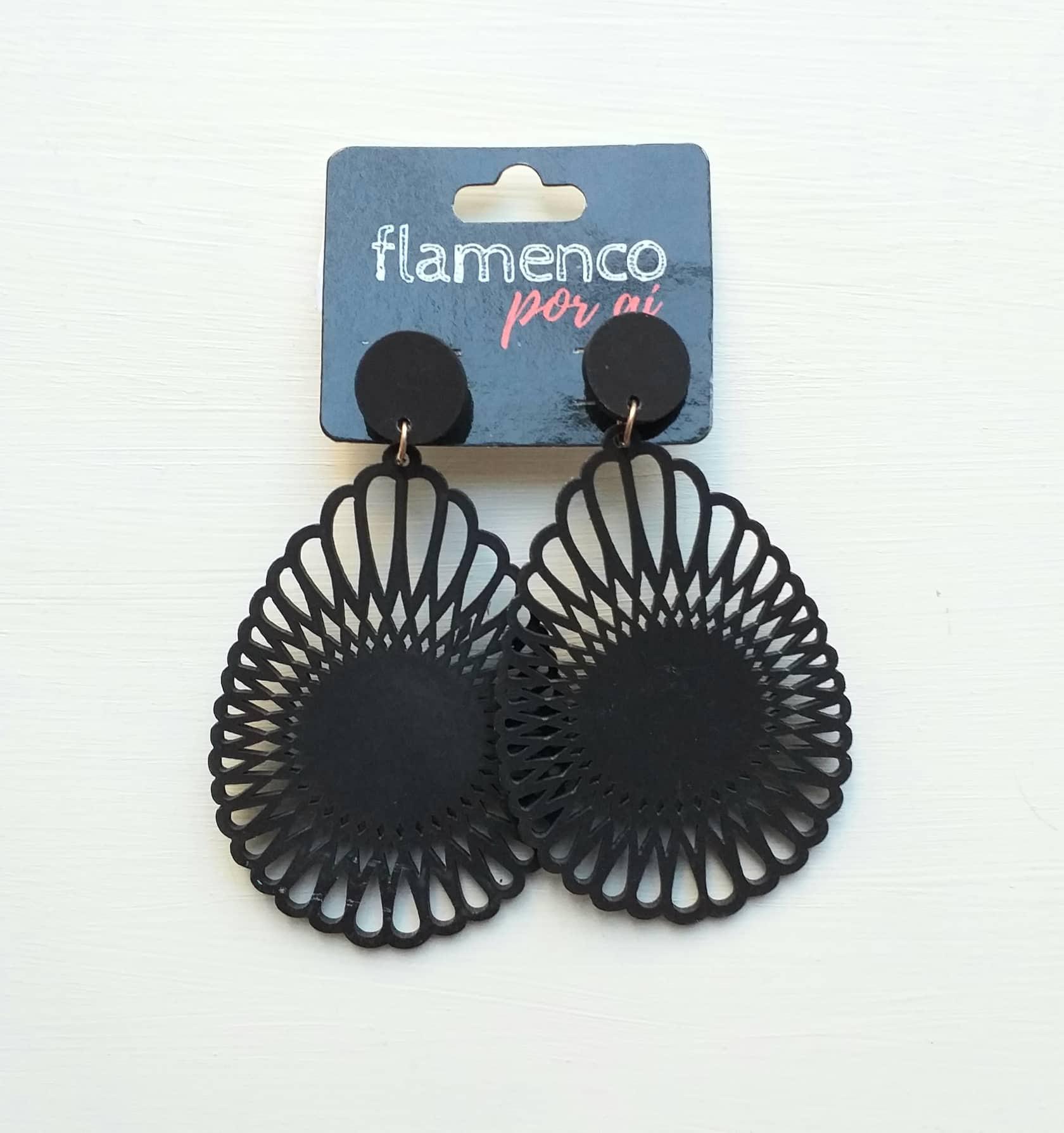 BRINCO flamenco acrílico leve gota mandala 4,5x8cm