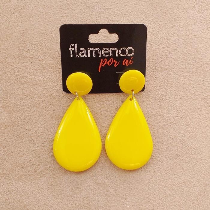 BRINCO flamenco meia gota resina 4 x2,5cm