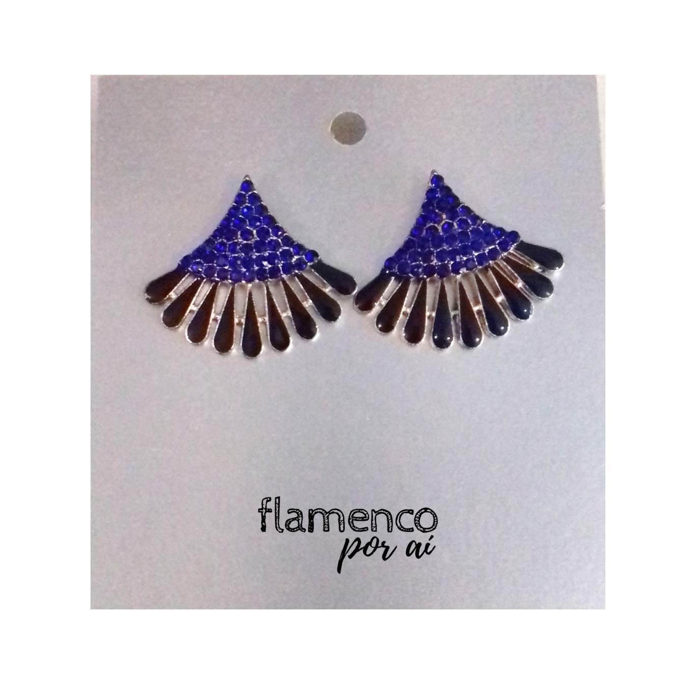 BRINCO flamenco pedrinhas leque pequeno várias cores