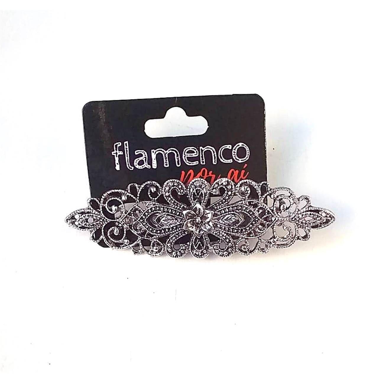 BROCHE flamenco vintage metal prateado (un.)