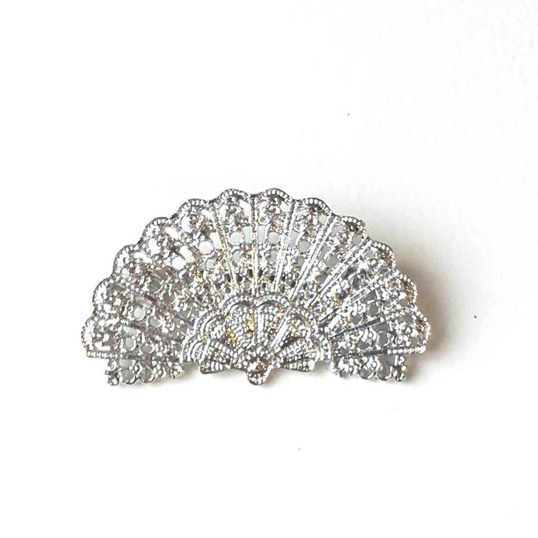 BROCHE flamenco vintage leque metal