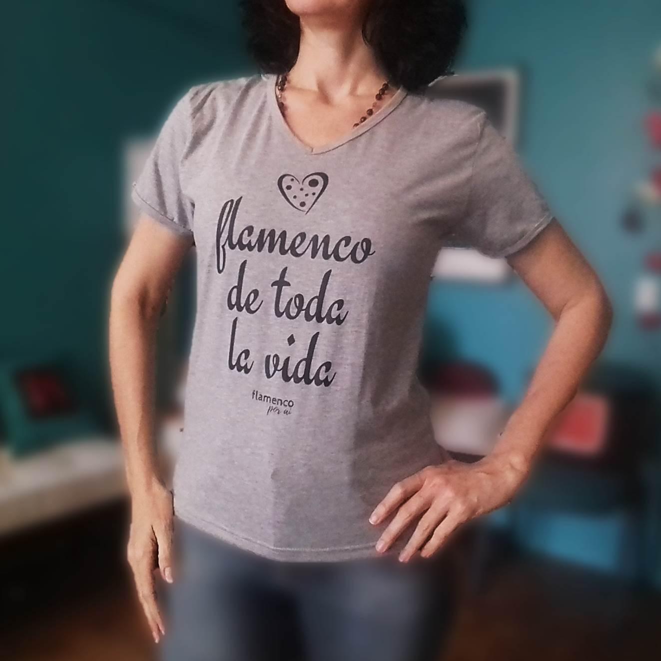 CAMISETA baby look flamenco de toda la vida