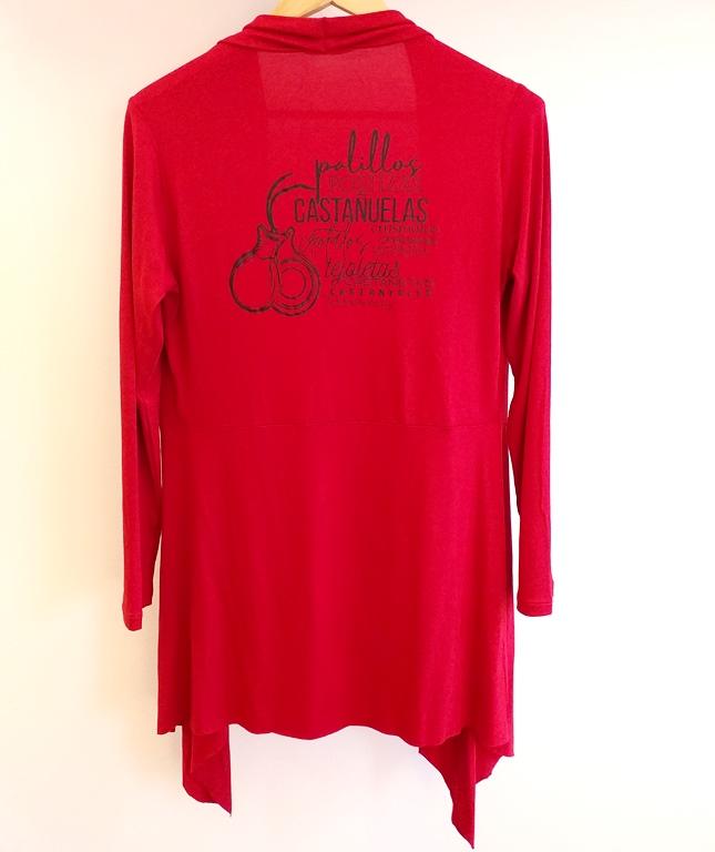 CARDIGAN palillos flamenco vermelho
