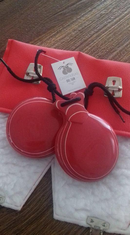 CASTANHOLA CAPRICHO PROFISSIONAL Del Sur vidrio vermelha flamenco n 03 grande par