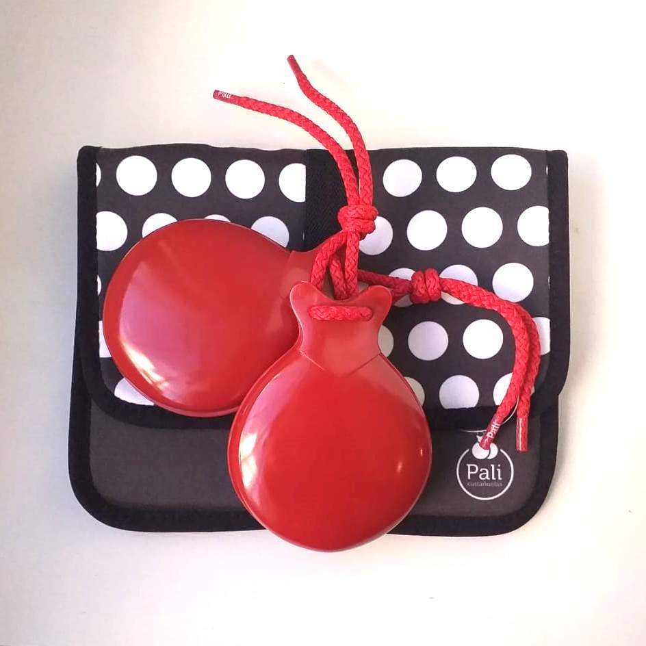 CASTANHOLA INICIAÇÃO caixa dupla fibra vermelha espanhola flamenco Pali cordão vermelho