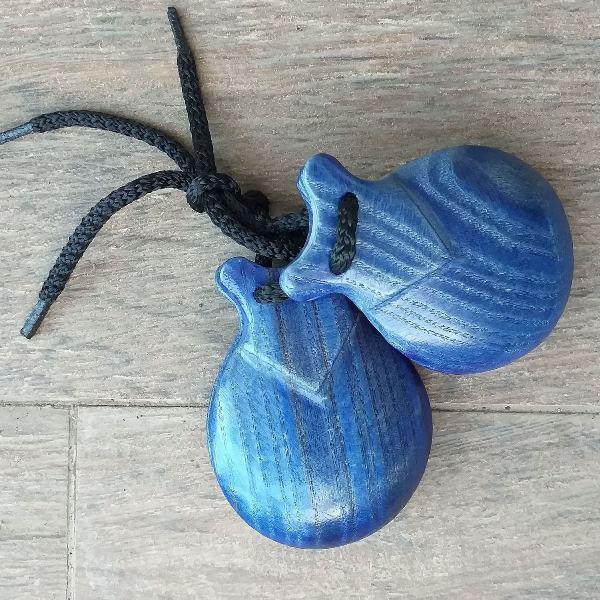 CASTANHOLA INICIAÇÃO pequena madeira azul Artesanía Levante