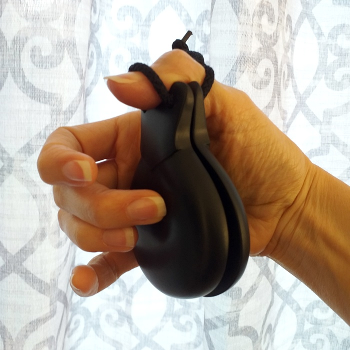 CASTANHOLA PROFISSIONAL fibra preta Filigrana flamenco par