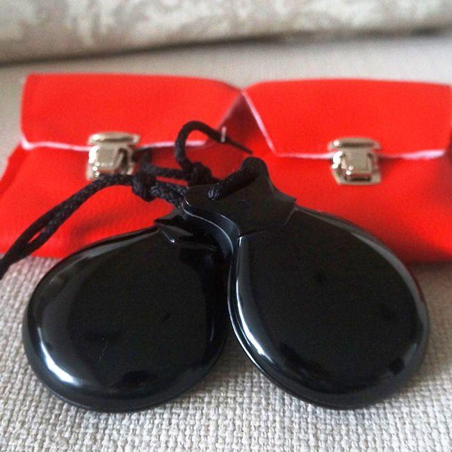 CASTANHOLA PROFISSIONAL vidrio preto caixa dupla espanhola Del Sur flamenco