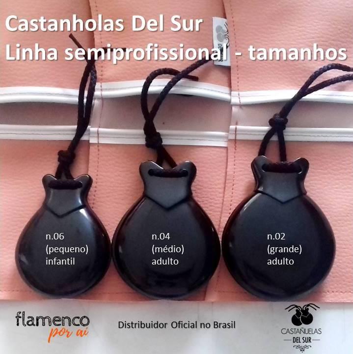 CASTANHOLA SEMIPROFISSIONAL Del Sur fibra flamenco n 06 pequena infantil