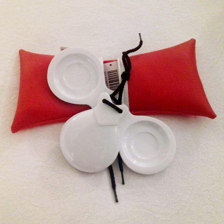 CASTANHOLA SEMIPROFISSIONAL fibra branca caixa dupla concierto Del Sur flamenco n.04