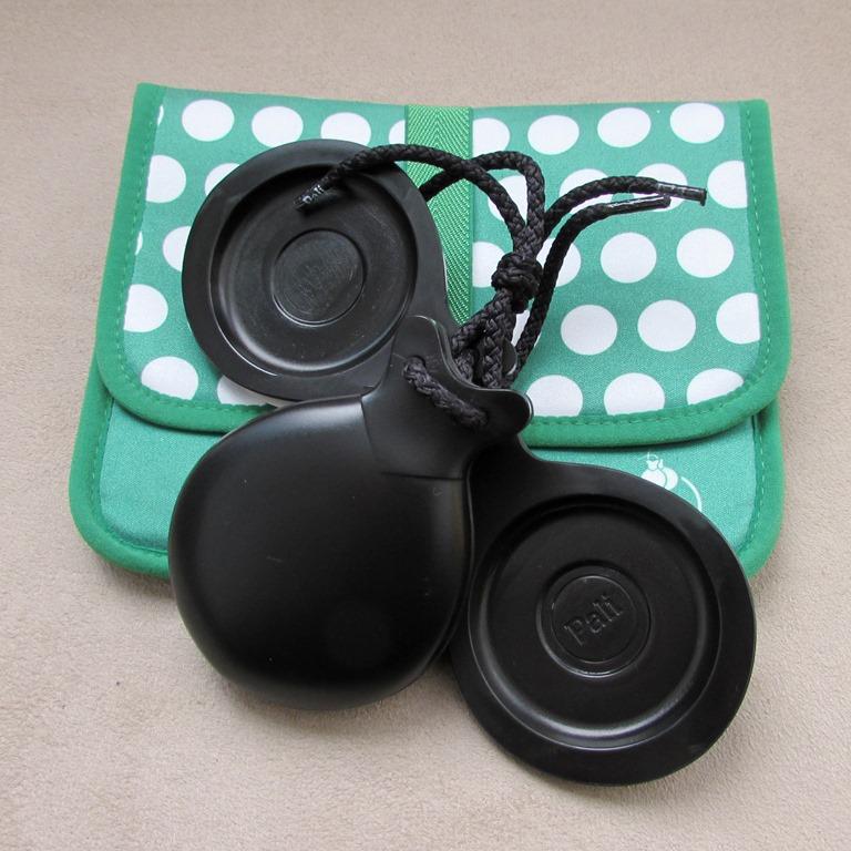 CASTANHOLAS espanholas caixa dupla fibra preta flamenco Pali